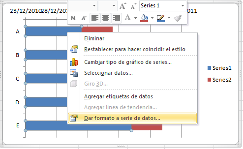 Cómo hacer un gráfico de Gantt en Excel