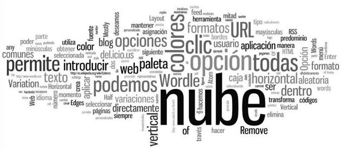 Nube de palabras en Excel