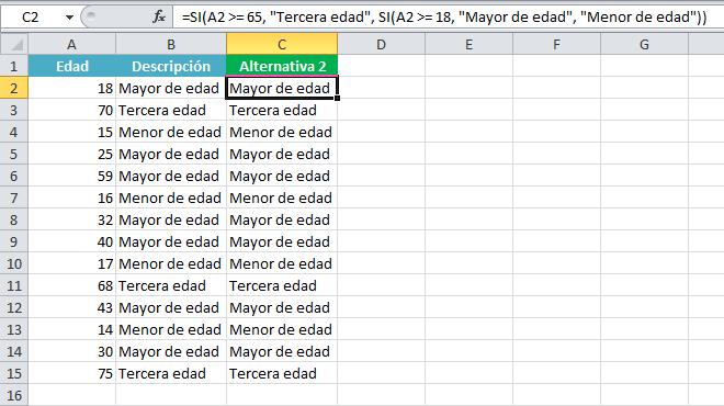 Cómo anidar funciones SI en Excel