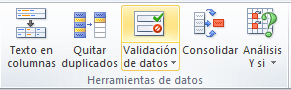 Crear lista desplegable en Excel