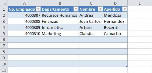 Cómo agregar filas a una tabla de Excel