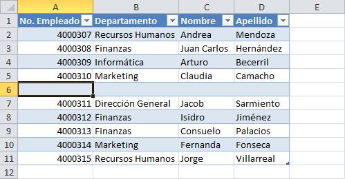 Cómo añadir filas a una tabla en Excel