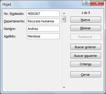 Añadir filas tabla Excel