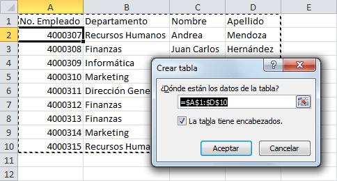 Cómo Crear Una Tabla En Excel Excel Total
