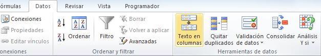 Dividir texto en columnas