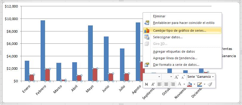 Qué es un gráfico múltiple en Excel