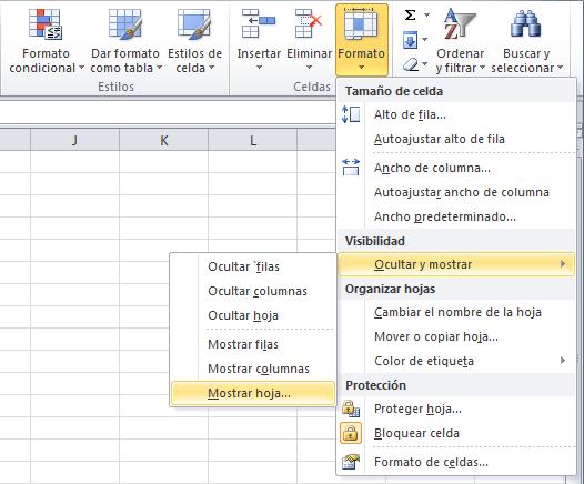 Ocultar una hoja de Excel y ponerla muy oculta