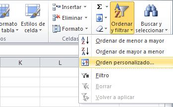 Ordenar una lista aleatoriamente en Excel