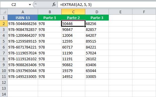 Separar texto en celdas en Excel