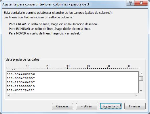 Fórmula para separar texto en Excel