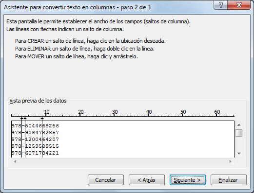 Cómo separar palabras en Excel