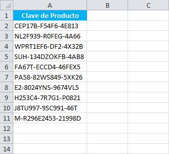 Dividir el valor de un celda en varias celdas de Excel