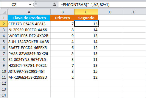 Cómo separar un texto en palabras en Excel