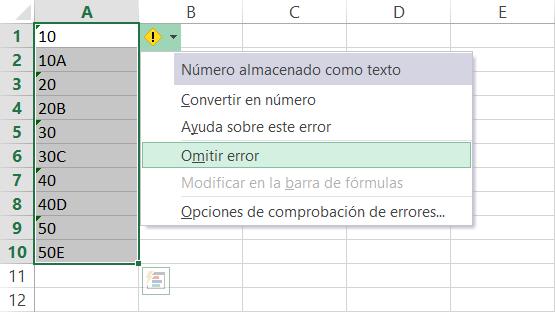Ordenar datos alfanumércios en Excel