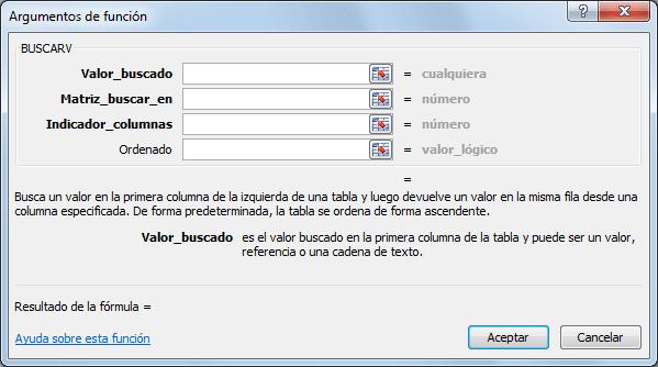 Función BUSCARV Excel