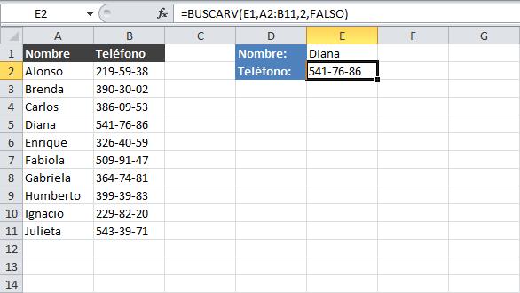 Función Buscarv Tecnico Sena