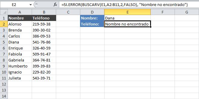 Eliminar el error #N/A de la función BUSCARV