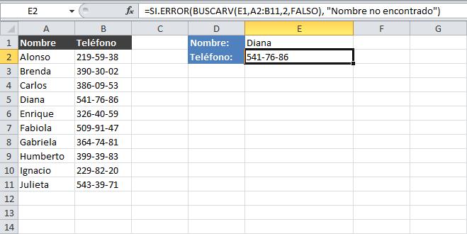 Corregir el error #N/A de la función BUSCARV en Excel