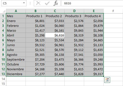 Método abreviado para seleccionar todo en Excel