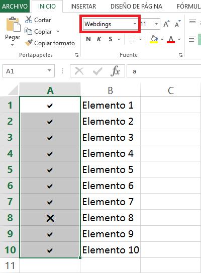 Marca De Verificación Checkmark En Excel Excel Total