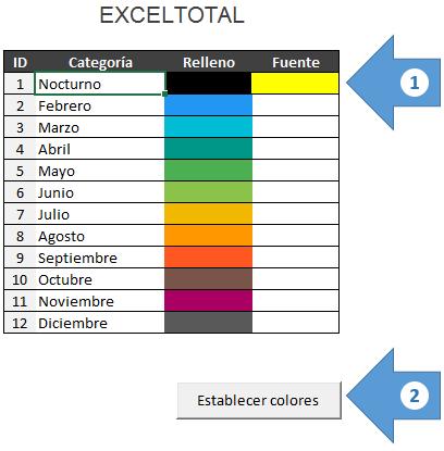 Crear un calendario 2017 mensual en Excel