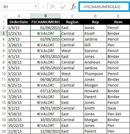 Cambiar formato fecha excel dia mes año