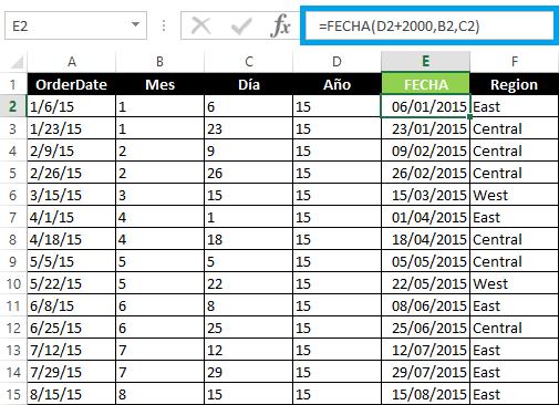 Convertir fecha en inglés en Excel