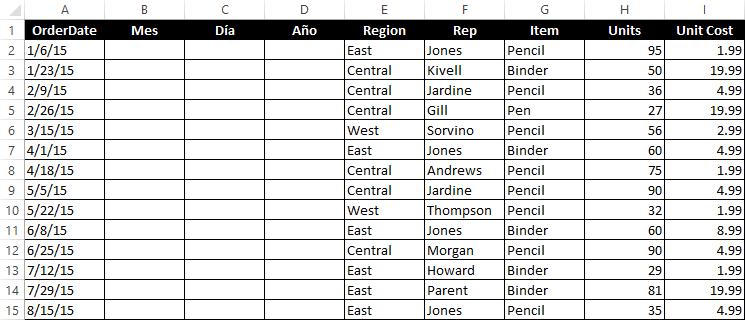 Cómo cambiar el orden de la fecha en Excel