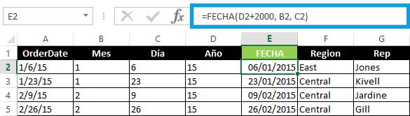 Cambiar fecha de Estados Unidos a formato en español