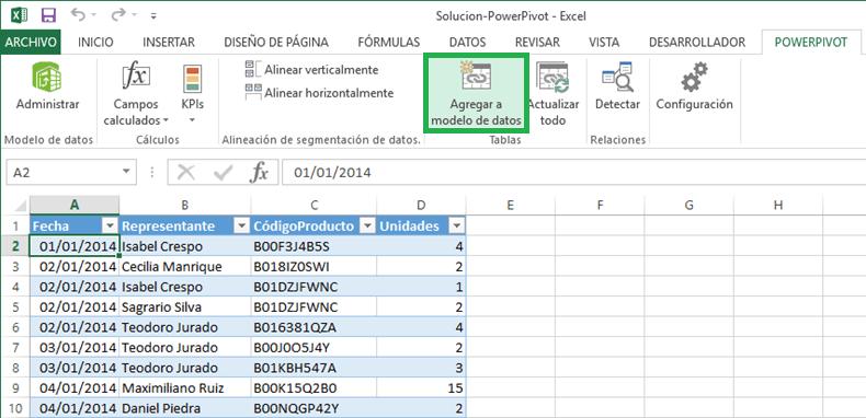 Inteligencia de negocios en Excel con Power Pivot