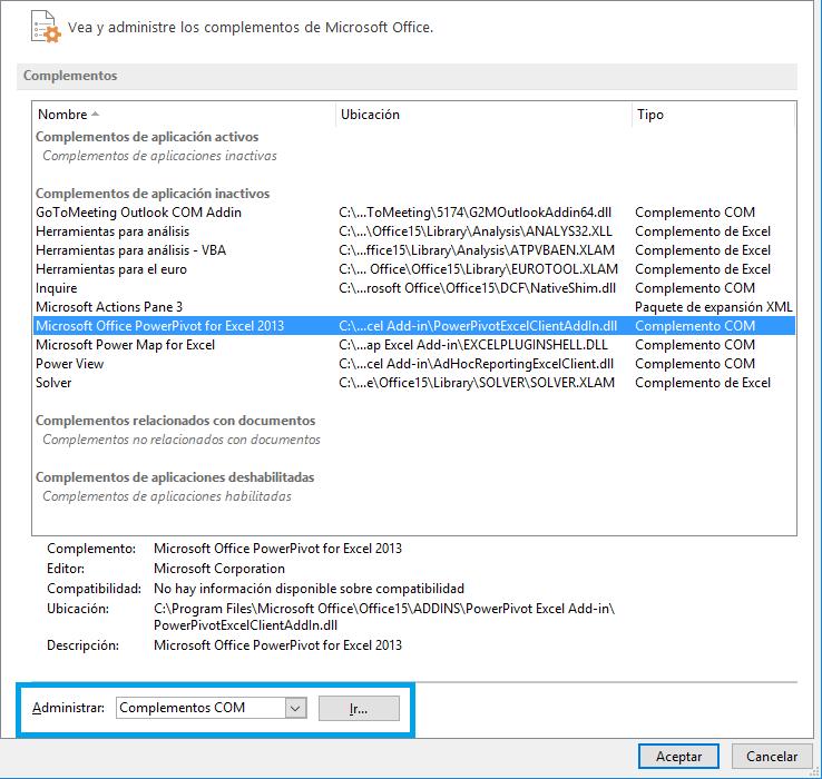 Cómo instalar los complementos BI para Excel