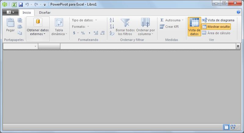 La pestaña Power Pivot en Excel