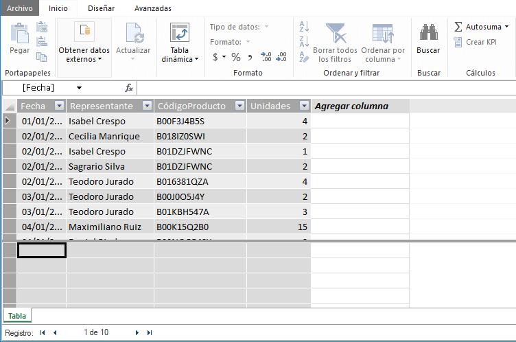 Tipos de datos admitidos en Power Pivot