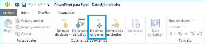 Agregar datos a un libro de Excel con Power Pivot