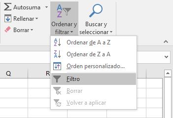 Remover fiasl en blanco en Excel