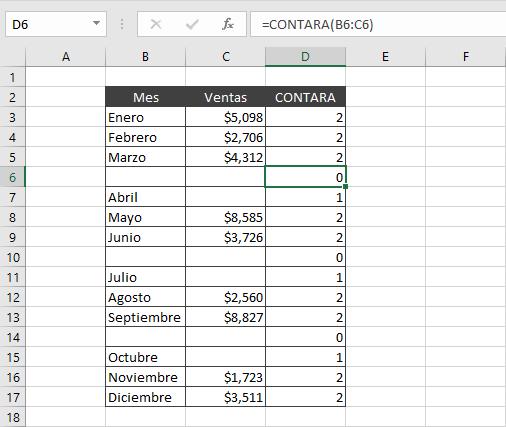 Seleccionar y eliminar filas vacías en Excel