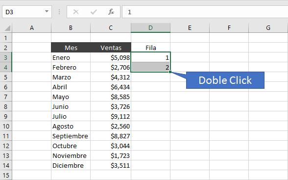 Como intercalar filas en Excel