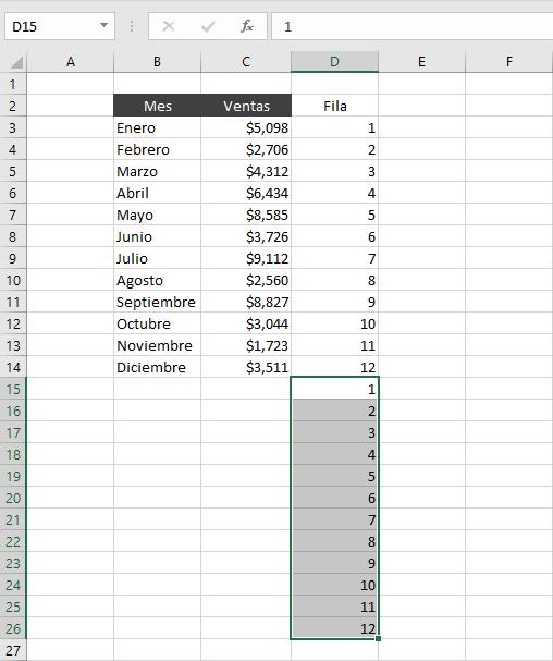 Insertar filas intercaladas en blanco en Excel