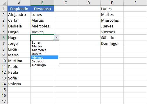 Cómo copiar la lista desplegable en Excel