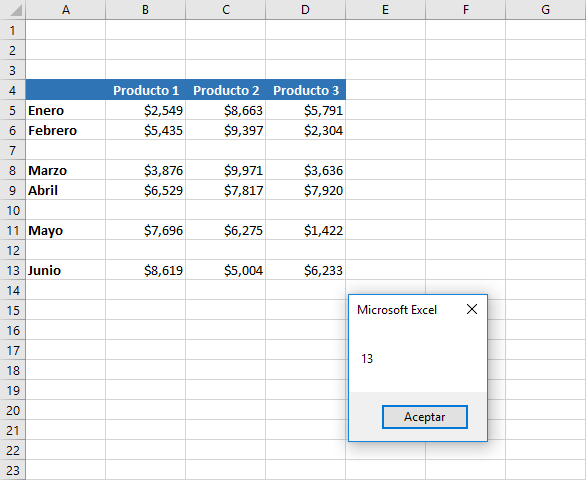 Identificar la última fila en uso con VBA