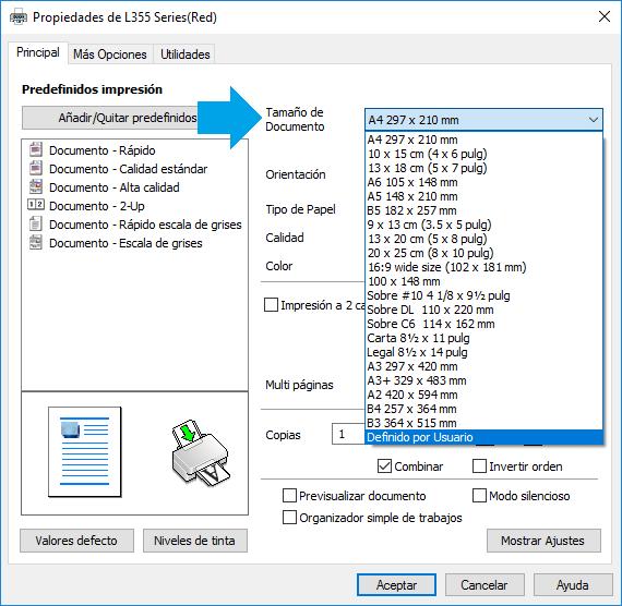 Configurar página en tamaño oficio en Excel