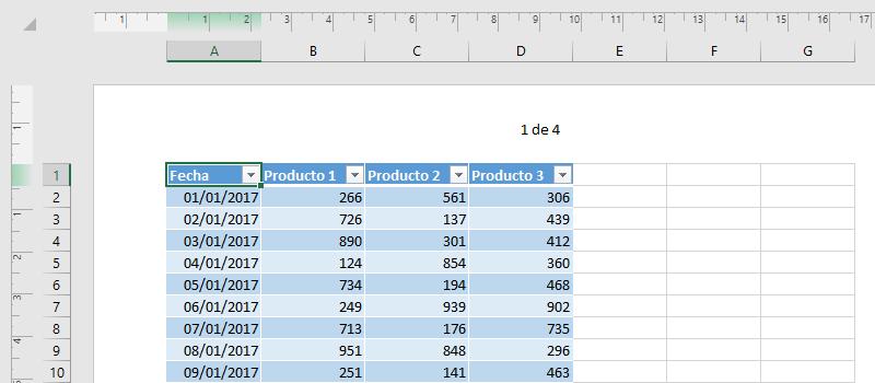 Cómo poner número de página en Excel