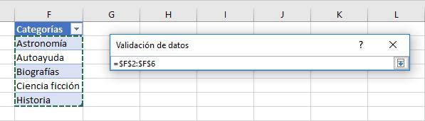Celda con lista desplegable automática