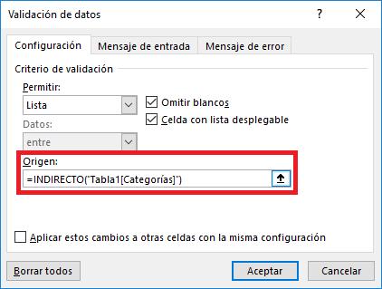 Lista desplegable con ajuste automático en Excel