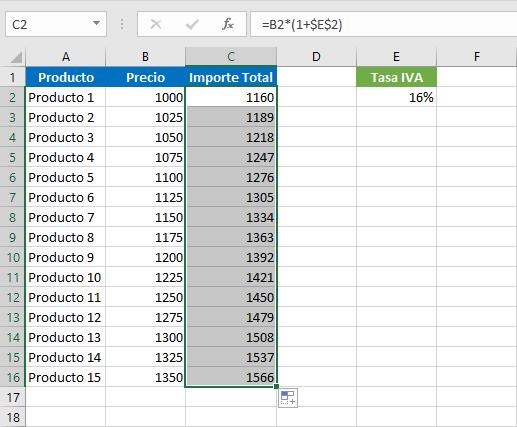 Cómo restar el IVA en Excel