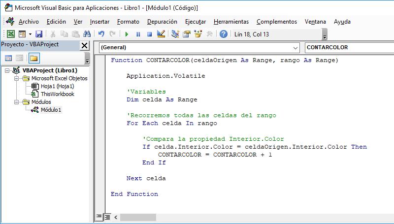 Contar celdas por color en Excel - Excel Total