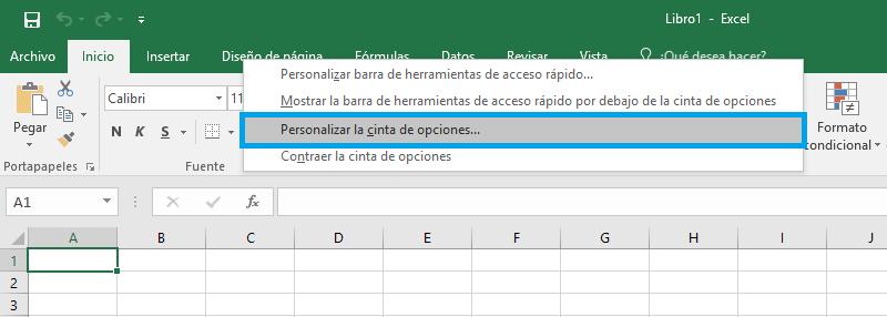 Activar pestaña Programador en Excel