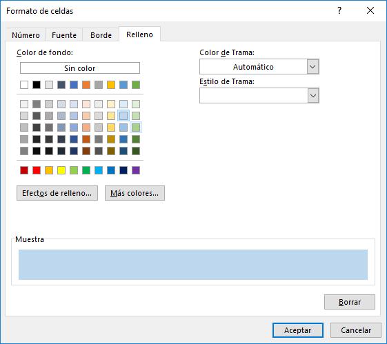 Aplicar sombreado a filas alternas en Excel