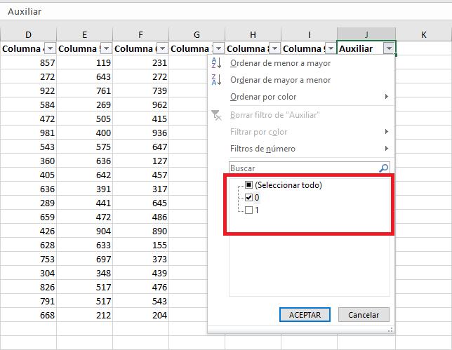 Sombrear filas alternas en Excel