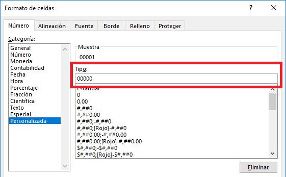 Formato de celdas personalizado en Excel